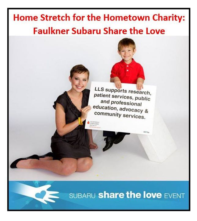 Faulkner Subaru Harrisburg >> Home Stretch for the Hometown Charity: Faulkner Subaru Share the Love at Faulkner Subaru ...