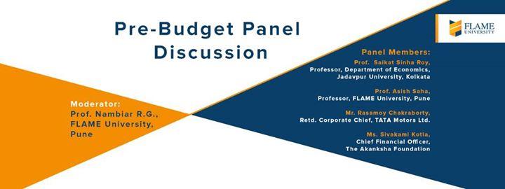 pre budget panel discussion at flame university pune. Black Bedroom Furniture Sets. Home Design Ideas