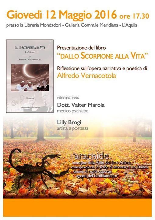 Presentazione del libro Dallo Scorpione alla Vita di Alfredo Vernacotola