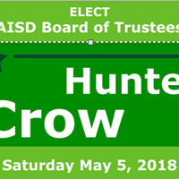 Hunter Crow Arlington ISD Board of Trustees Place 5 Campaign kickoff Event