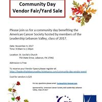 RFL of Lebanon County Community Day Vendor Fair