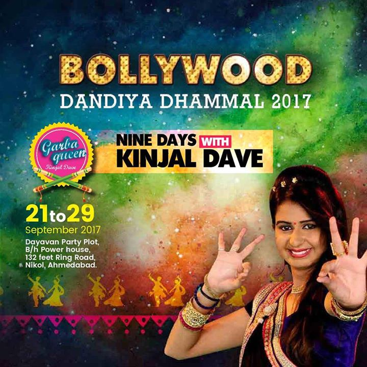 Bollywood Dandiya Dhamaal 2017 nine days with Kinjal Dave