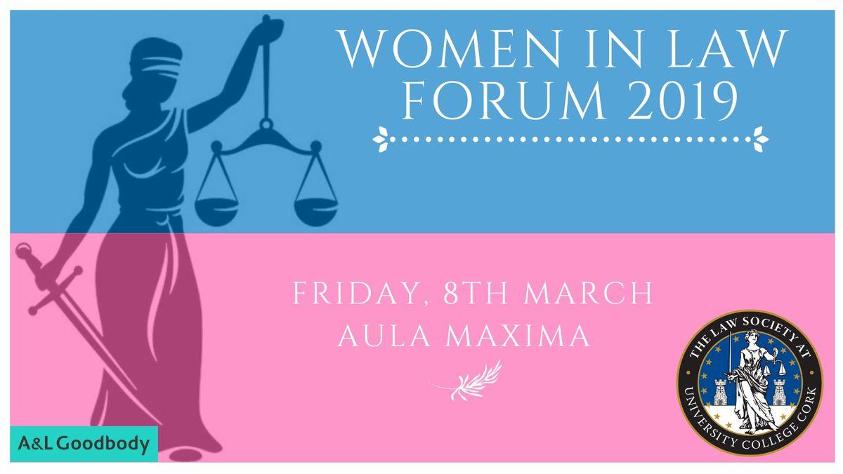 UCC Women In Law Forum 2019