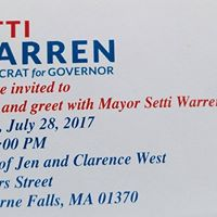 Meet and Greet with Setti Warren Dem candidate for Gov