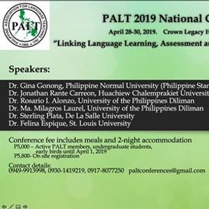 2019 PALT National Conference and Convention
