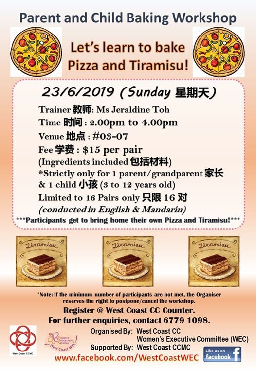 Parent and Child Pizza and Tiramisu Baking Workshop