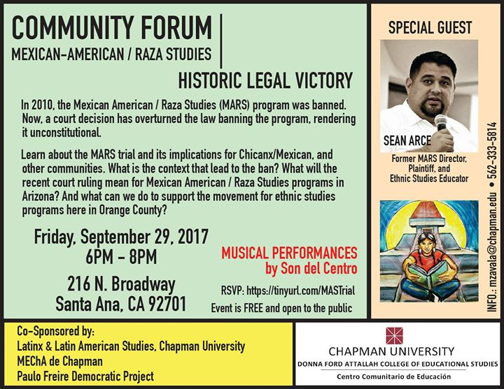 Community Forum MexAm Raza Studies Historic Legal Victory At - Ethnic studies banned us map