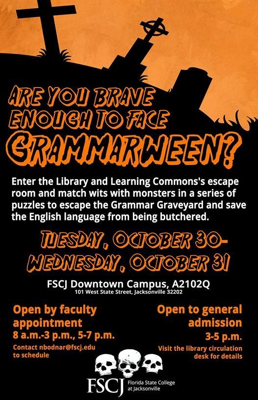 The Return of Grammarween (presented by the Downtown Campus ...