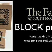 Block Printing Card Making Class