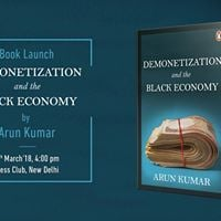 Book Launch Demonetization and the Black Economy