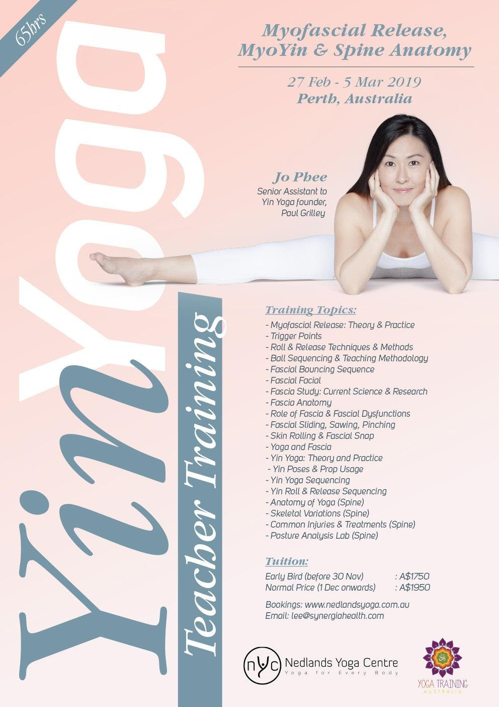 Jo Phee Yin Yoga & Myofascial Release Perth 2019 at Nedlands Yoga ...