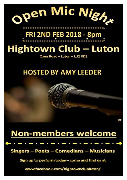 Open Mic Night With Amy Leeder