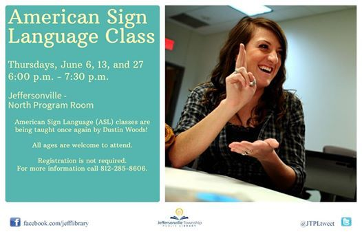 American Sign Language at Jeffersonville Township Public Library