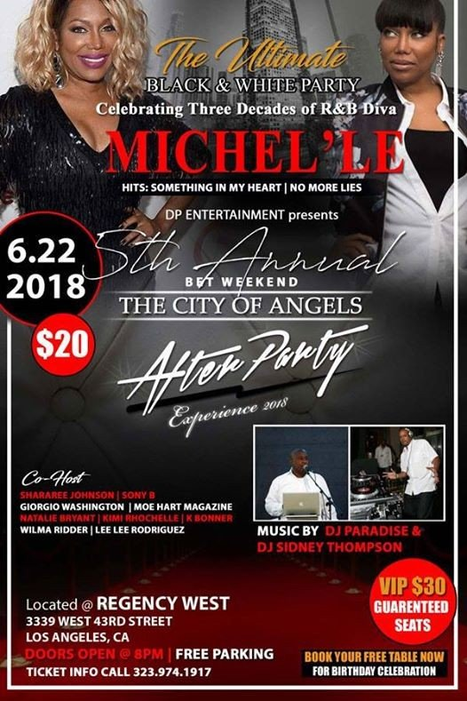 Join Michelle at BETX City of Angels Black and White Party