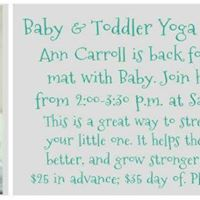 Baby &amp Toddler Yoga w Mom