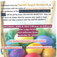Sweet Angels 5th Annual Holt Brothers Easter Bunny Celebration