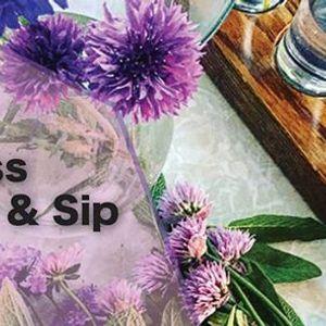 Flower Pint Glass Arrange &amp Sip