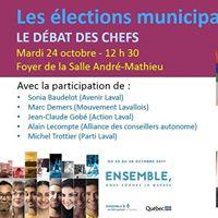 lections municipales  DBAT DES CHEFS  Montmorency
