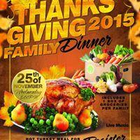 GRAN CENA GRATIS DE ACCION DE GRACIAS  Free Thanksgiving Family Dinner and Live Music