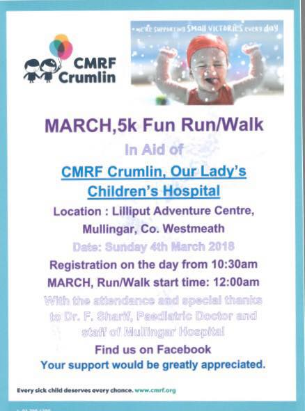 Find events by - CMRF Crumlin |