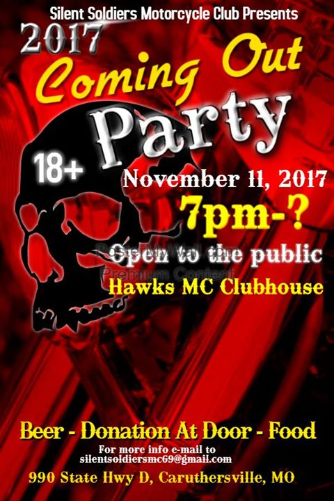 Silent Soldiers MC Coming Out Party 2017 at 990 MO-D, Caruthersville