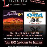 Lindbjerg Academy Presents Aladdin Jr. &amp The Odd Couple (scenes)