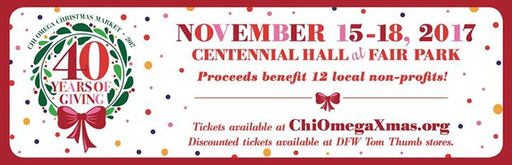 chi omega christmas market 40 years of giving 2017 at fair parkcentennial hall dallas - Chi Omega Christmas Market