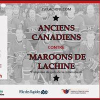 Partie de hockey avec les Anciens Canadiens de Montral