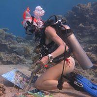 Olga Belka - Underwater painter / Ольга Белкина - подводный художник.