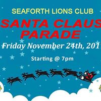 Seaforth Lions Club Santa Claus Parade 2017