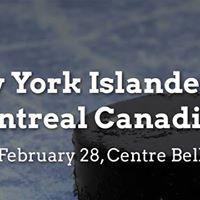 New York Islanders vs. Montreal Canadiens