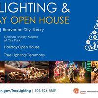 Tree Lighting &amp Holiday Open House