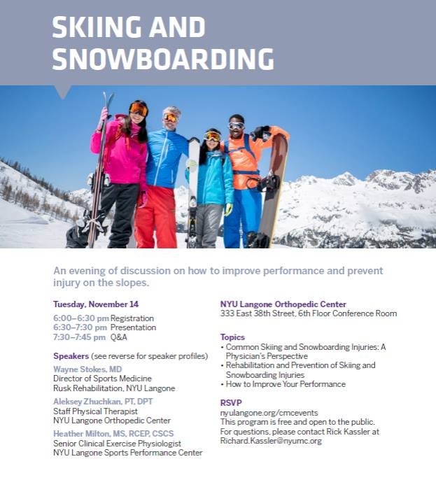 NYU Langone Orthopedic Center: Skiing and Snowboarding