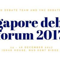 Singapore Debate Forum 2017