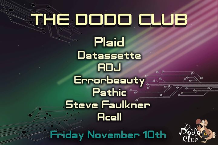 The Dodo Club 5th Anniversary Friday 10th November At Bar Co Temple
