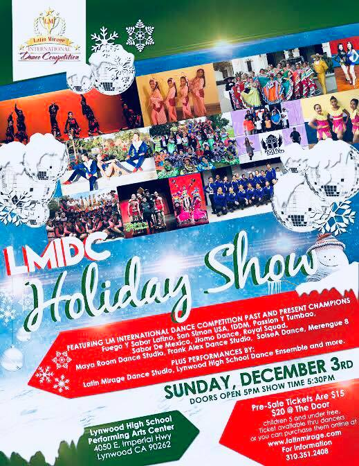 Holiday fundraiser show with LMIDC at Lynwood High School