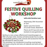 Festive Quilling Workshop with Karolina Laser