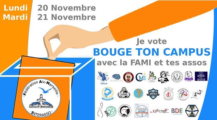 Les 20 et 21 je vote BOUGE TON Campus avec la FAMI et tes assos