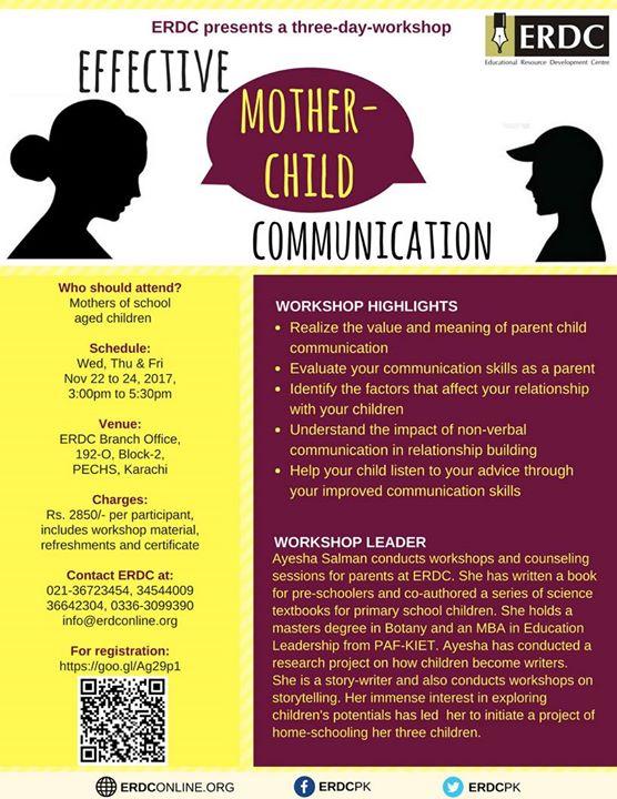 ERDC Workshop Effective Mother-Child Communication