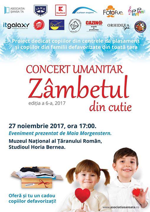 Concert Umanitar Zambetul din cutie editia a sasea 2017