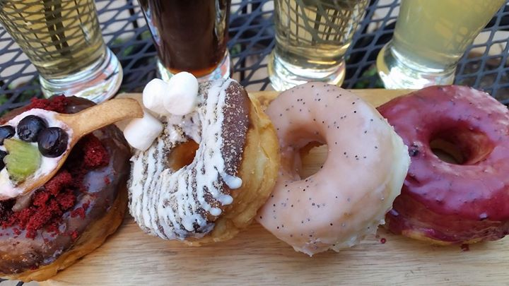 Beer Donuts Tasting At The Yellow Rose Steak And Chophouse Flower