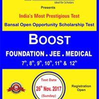 Bansal Open Opportunity Scholarship Test (BOOST)