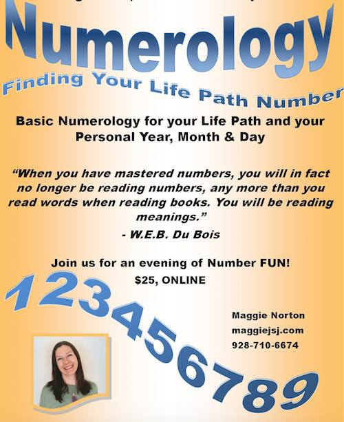 Basic Numerology Online Class at Maggie Norton, Healing Arts