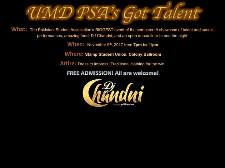 UMD PSAs Got Talent at Adele H Stamp Student Union, College Park