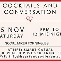Social Mixer for Singles on 25th November 2017