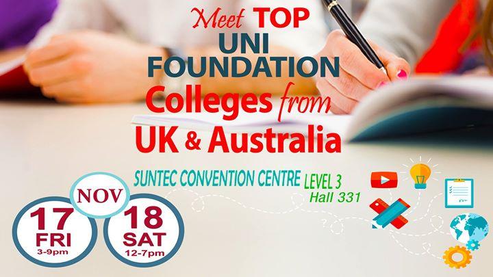 Top Uni Foundation Expo Suntec Fri 17 & Sat 18 Nov