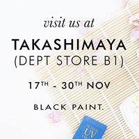 Black Paint at Takashimaya