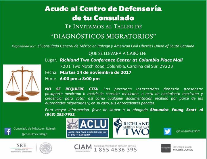 Columbia Sc Taller De Diagósticos Migratorios At