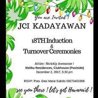 JCI Kadayawan 18th Induction
