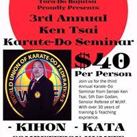 3rd Annual Ken Tsai Karate-Do Seminar